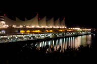 Canada Place in Vancouver at night